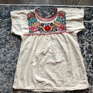Women Mexican embroidered blouse s/m